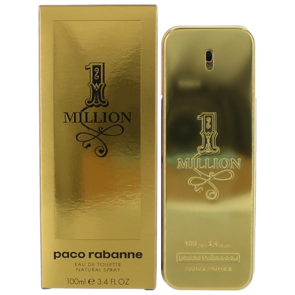 1 Million by Paco Rabanne, 3.4 oz EDT Spray for Men