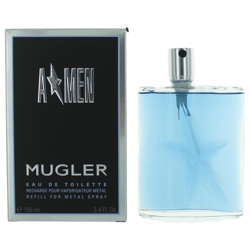 Angel by Thierry Mugler, 3.4 oz Eau De Toilette Spray Refill for Men (A*men)