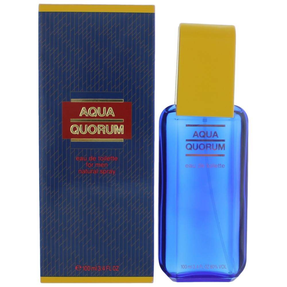 Aqua Quorum by Puig, 3.4 oz Eau De Toilette Spray for Men