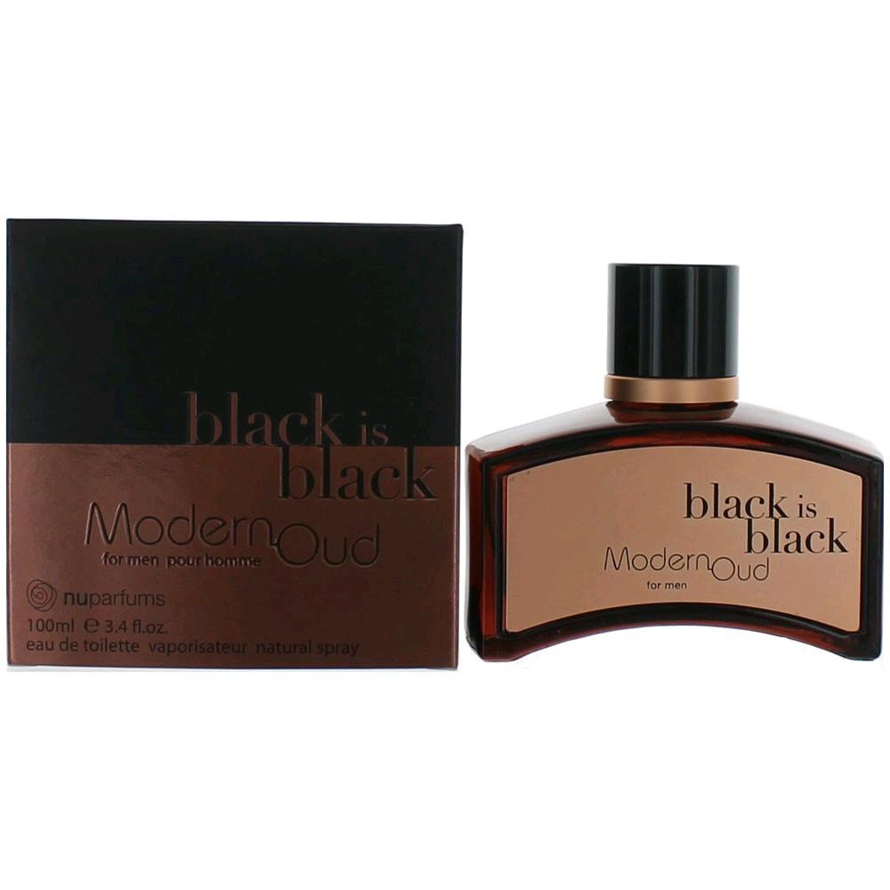 Black is Black Modern Oud by Nu Parfums, 3.3 oz Eau de Toilette Spray for Men