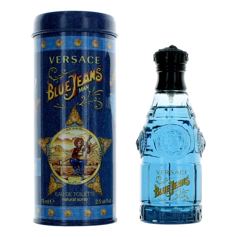 Blue Jeans by Versus, 2.5 oz Eau De Toilette Spray for Men (Versace)