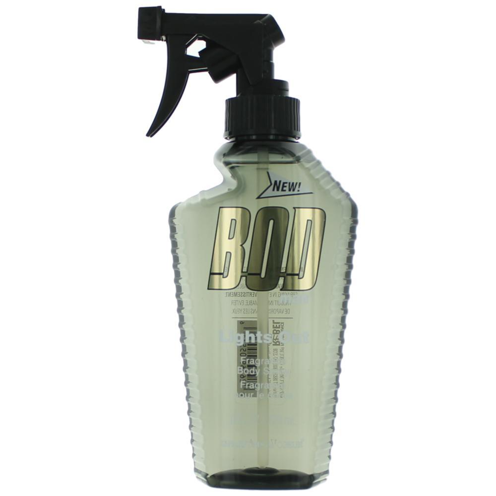 Bod Man Lights Out by Parfums De Coeur, 8 oz Frgrance Body Spray for Men