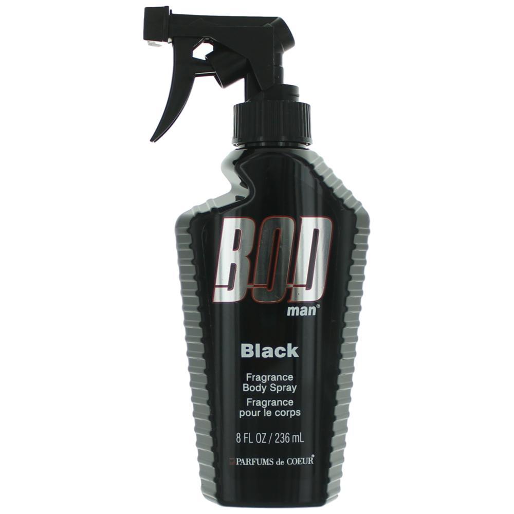 Bod Man Black by Parfums De Coeur, 8 oz Frgrance Body Spray for Men