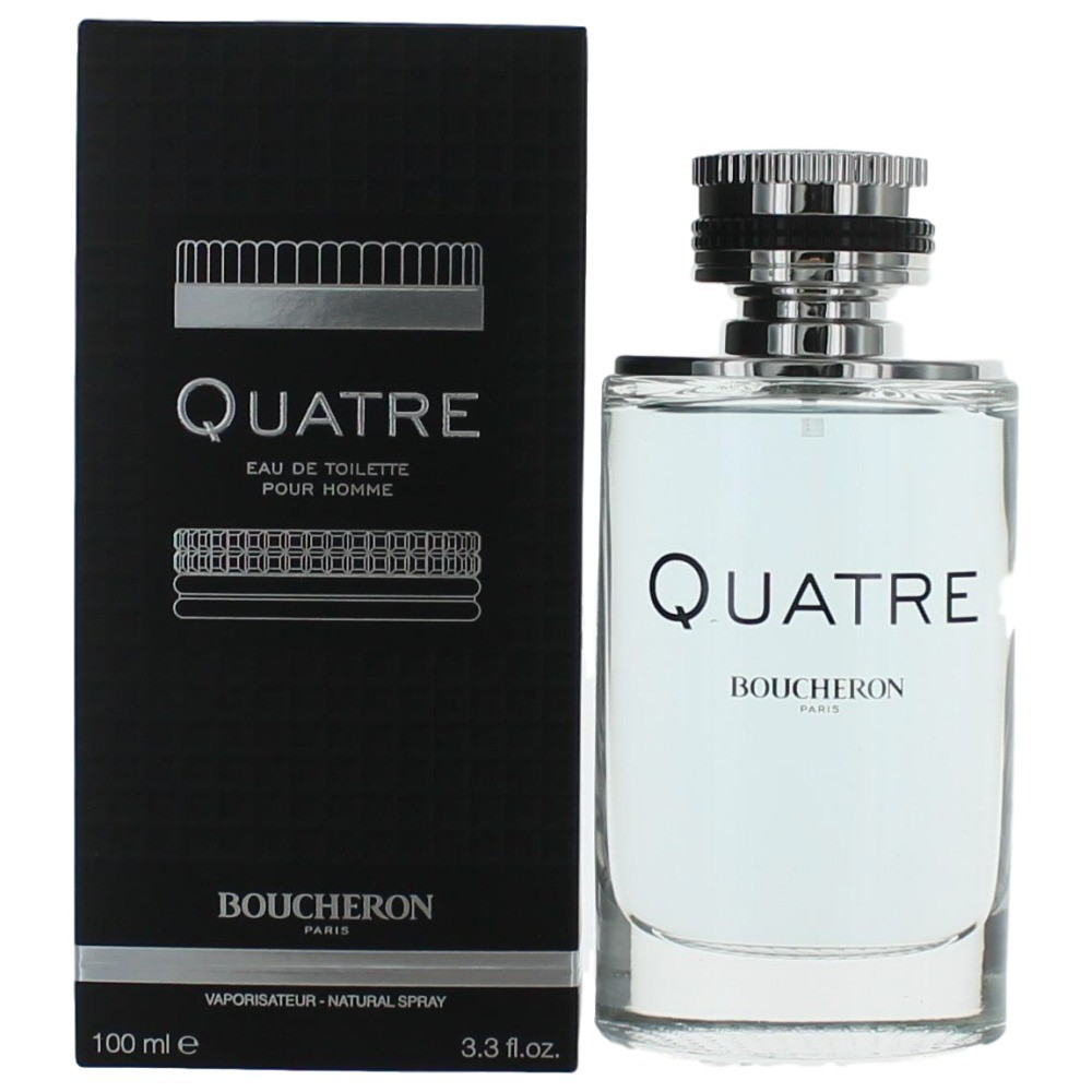Quatre Pour Homme by Boucheron, 3.4 oz EDT Spray for Men