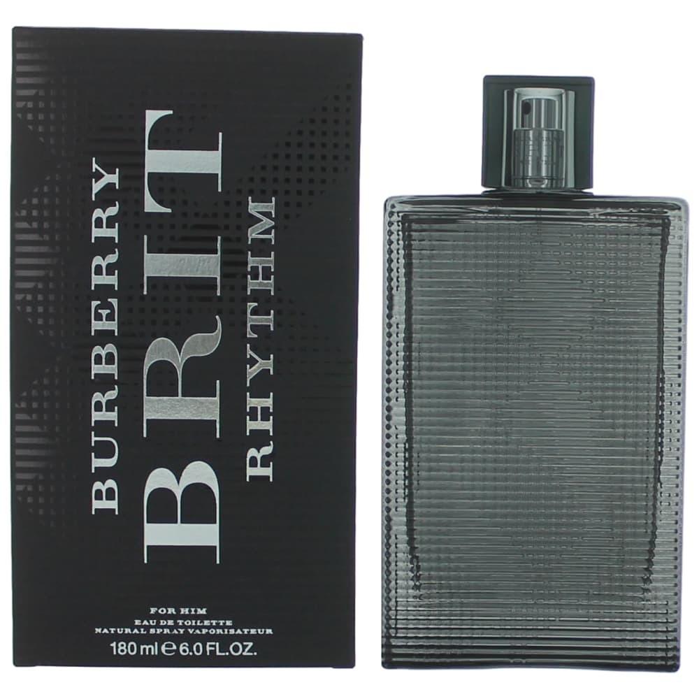 Brit Rhythm by Burberry, 6 oz EDT Spray for Men