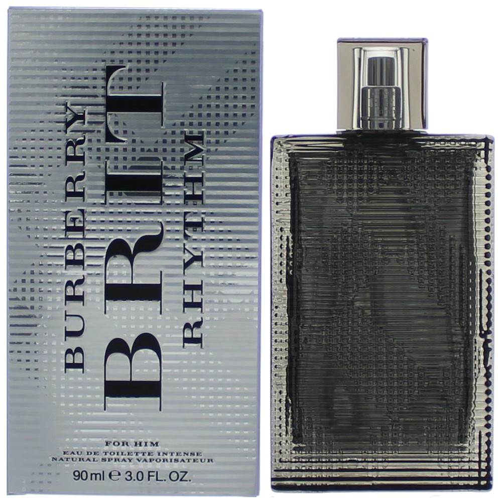Brit Rhythm Intense by Burberry, 3 oz EDT Spray for Men