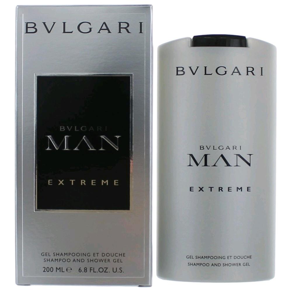 Bvlgari MAN Extreme by Bvlgari, 6.8 oz Shampoo and Shower Gel for Men