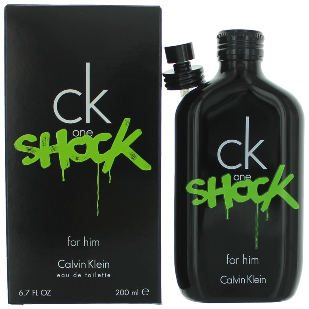 CK One Shock by Calvin Klein, 6.7 oz EDT Spray for Men