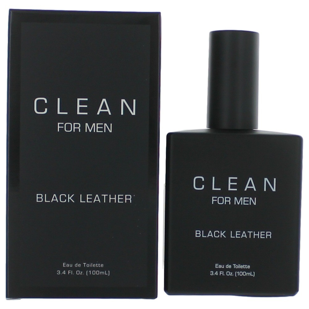 Clean Black Leather by Dlish, 3.4 oz Eau De Toilette Spray for Men