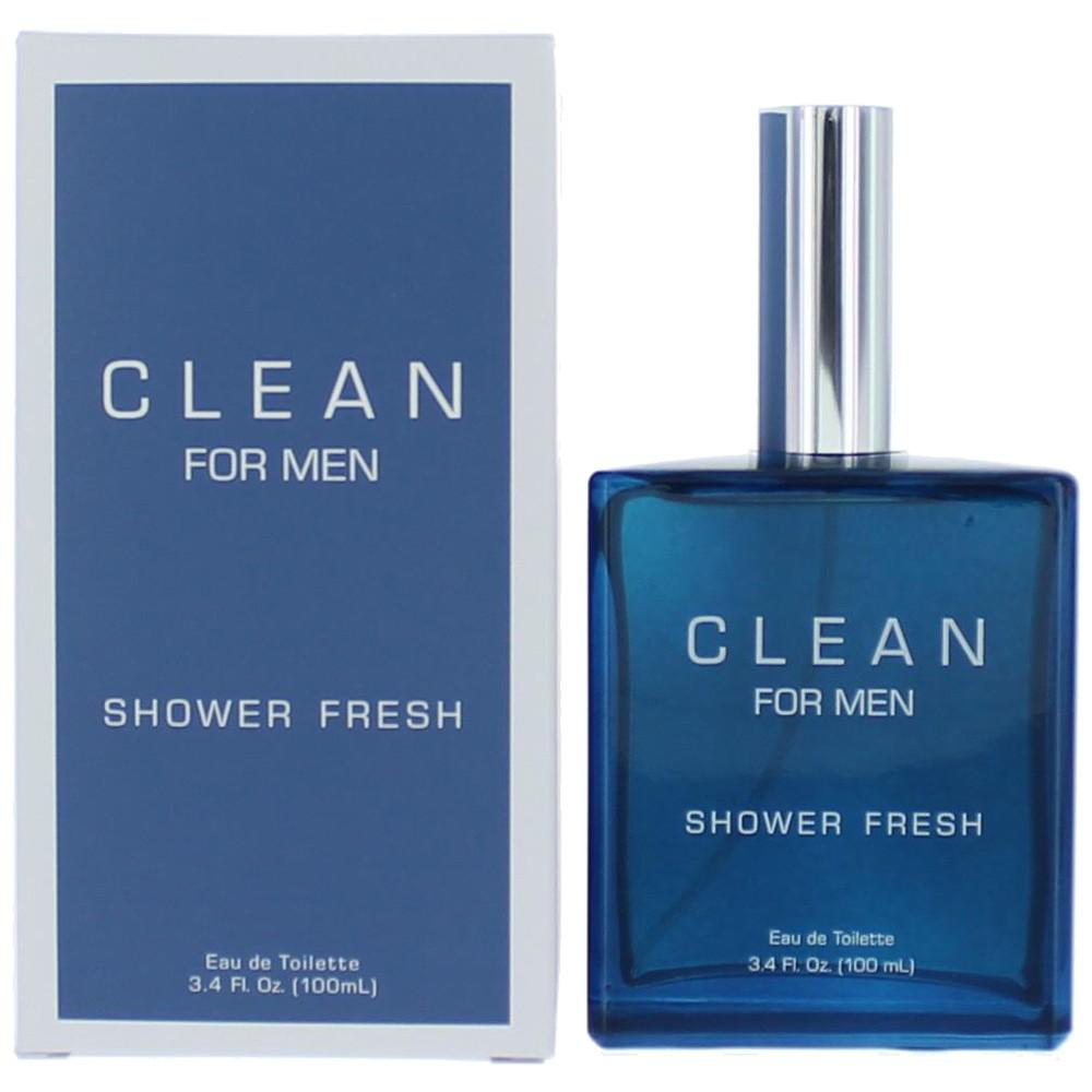 Clean Shower Fresh by DLish, 3.4 oz Eau De Toilette Spray for Men
