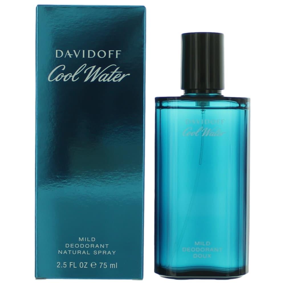Cool Water by Davidoff, 2.5 oz Deodorant Spray for Men