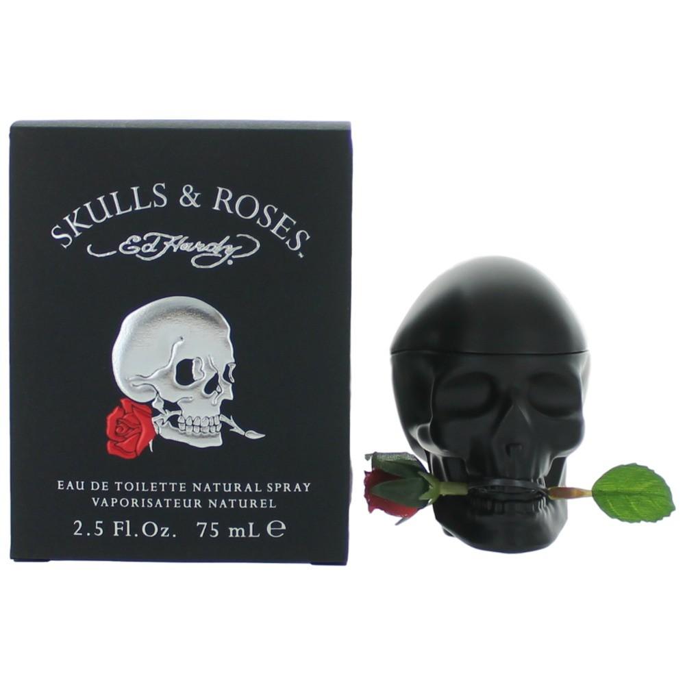 Ed Hardy Skulls & Roses by Ed Hardy, 2.5 oz Eau De Toilette Spray for Men