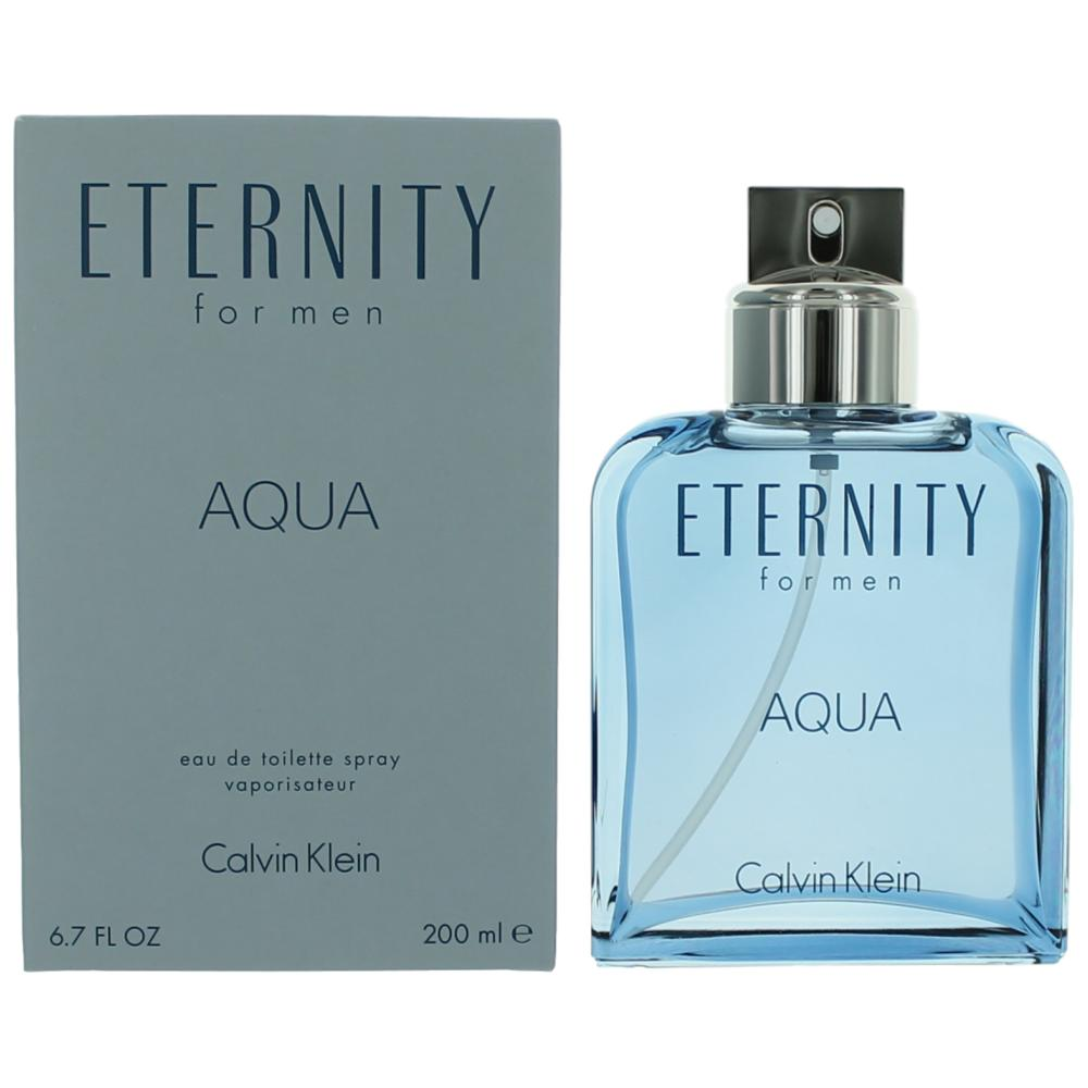 Eternity Aqua by Calvin Klein, 6.7 oz EDT Spray for Men