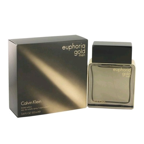 Euphoria Gold by Calvin Klein, 3.4 oz EDT Spray for Men