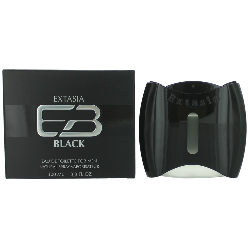 Extasia Black by New Brand, 3.3 oz Eau De Toilette Spray for Men