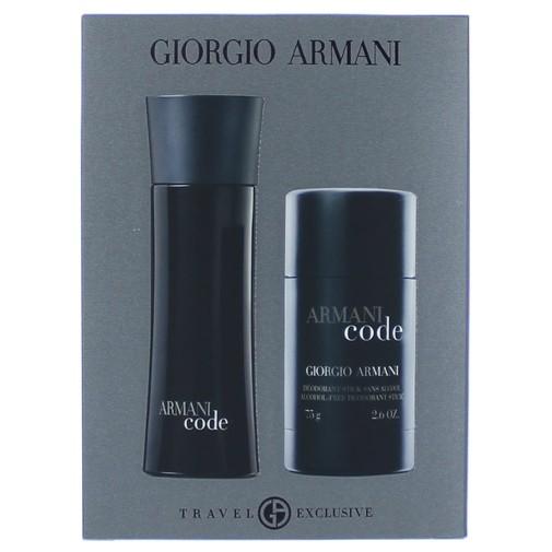 Armani Code by Giorgio Armani, 2 Piece Gift Set for Men 2.5oz EDT Spray Deodorant Stick