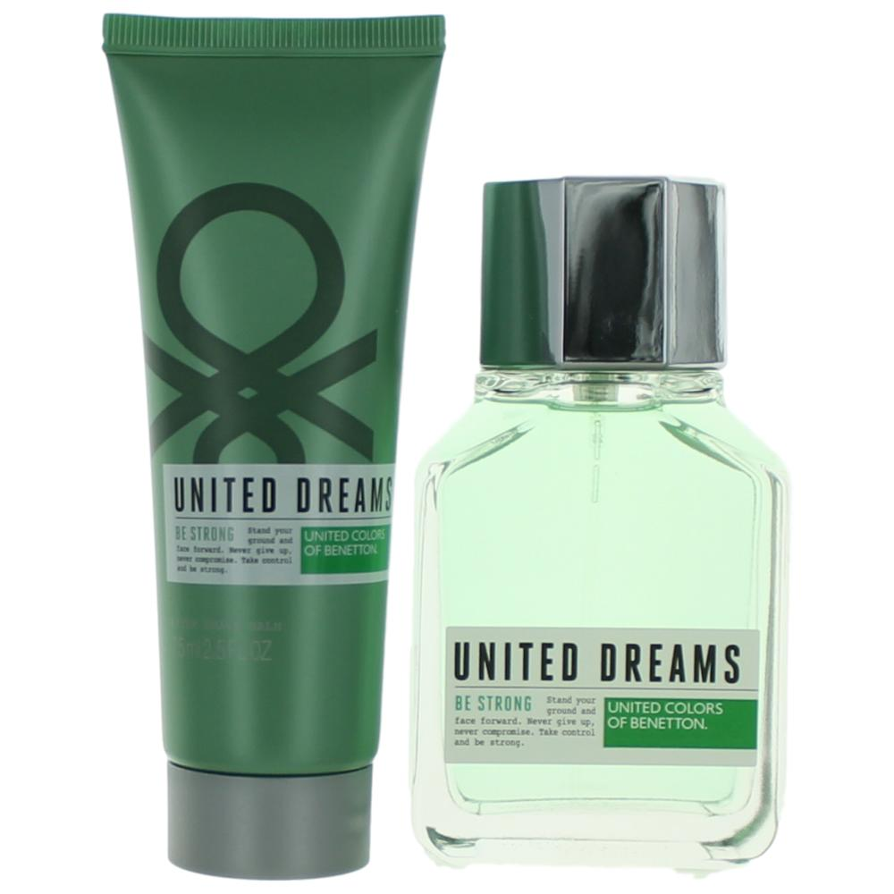 Benetton United Dreams Be Strong by Benetton, 2 Piece Gift Set for Men