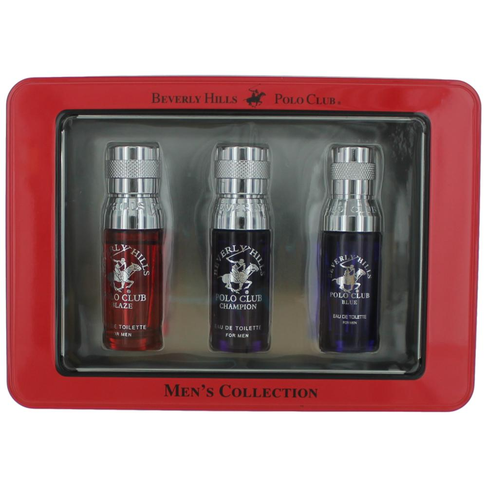 Beverly Hills Polo Club by Beverly Hills Polo Club, 3 Piece Variety Gift Set for Men (Red)