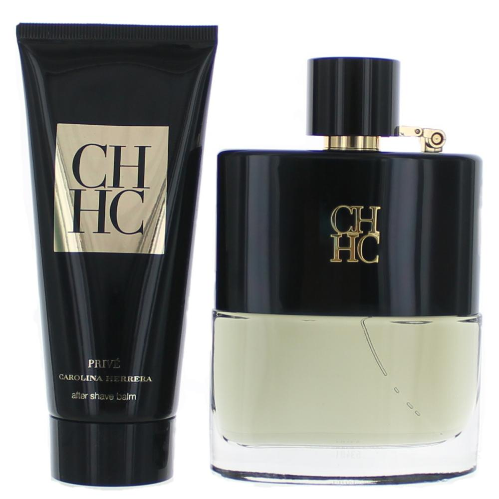 CH Prive by Carolina Herrera, 2 Piece Gift Set for Men 3.4oz EDT Spray Aftershave
