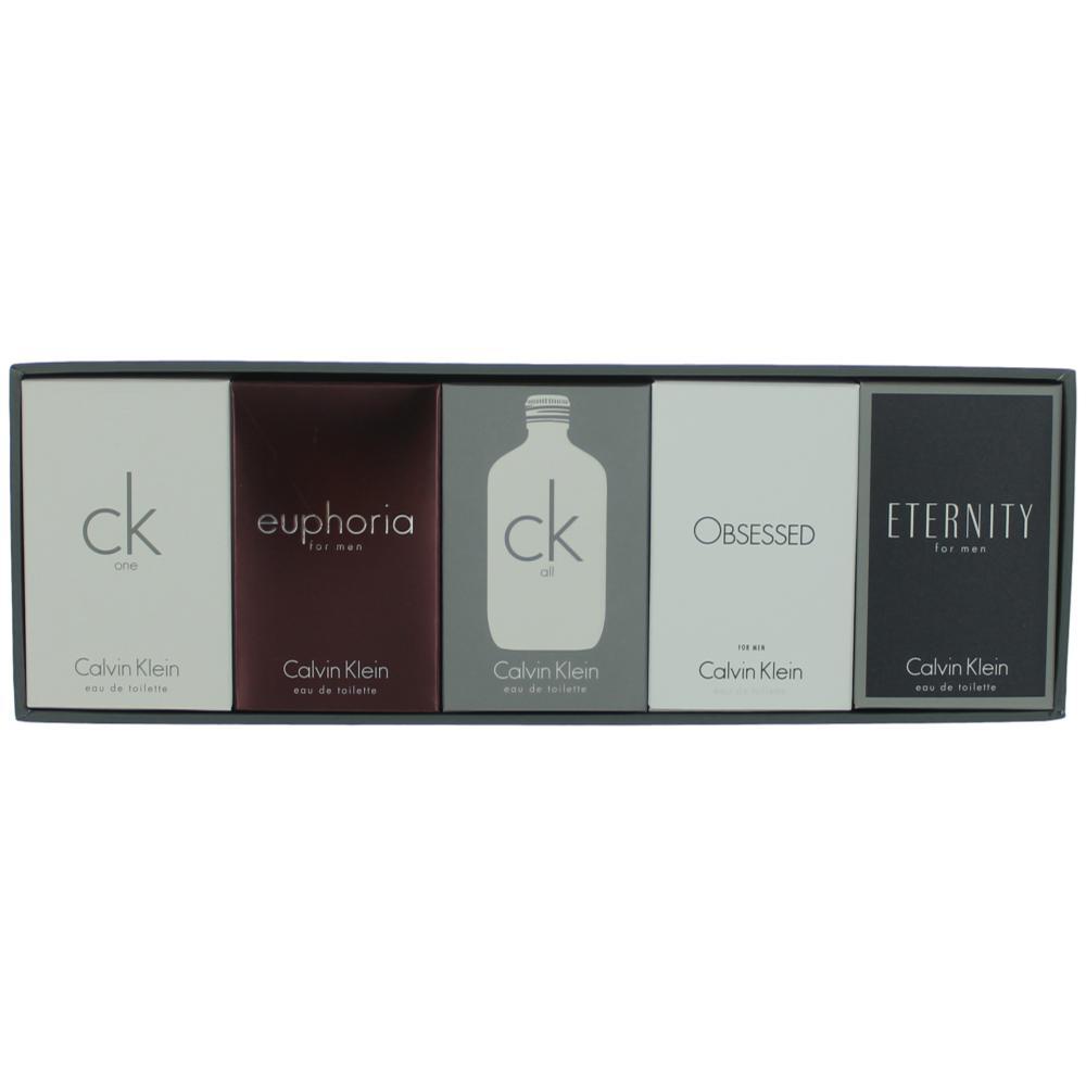 Calvin Klein by Calvin Klein, 5 Piece Mini Variety Gift Set for Men .33oz EDT