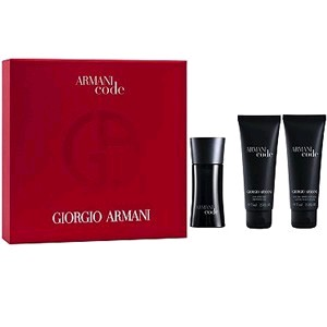 Armani Code by Giorgio Armani, 3 piece gift set for