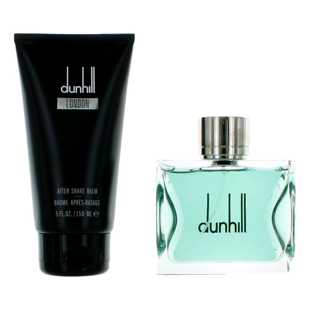Dunhill London by Alfred Dunhill, 2 Piece Gift Set for Men 3.4oz Cologne EDT Spray Aftershave