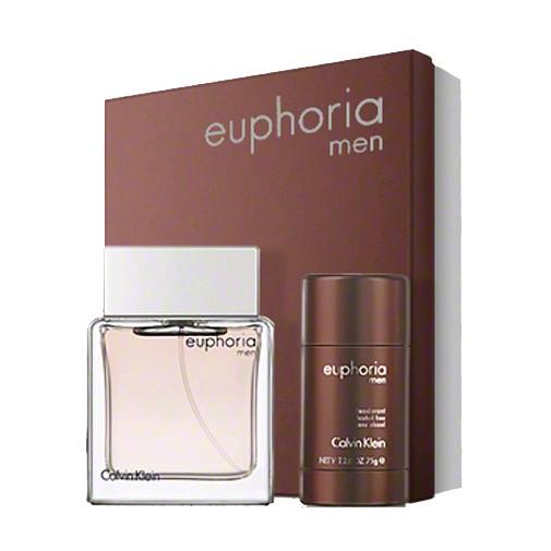 Euphoria by Calvin Klein, 2 Piece Gift Set for Men with Deodorant 3.4oz EDT Spray