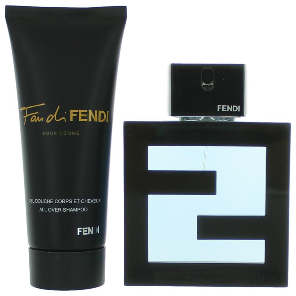Fan Di Fendi Pour Homme Acqua by Fendi, 2 Piece Gift Set for Men