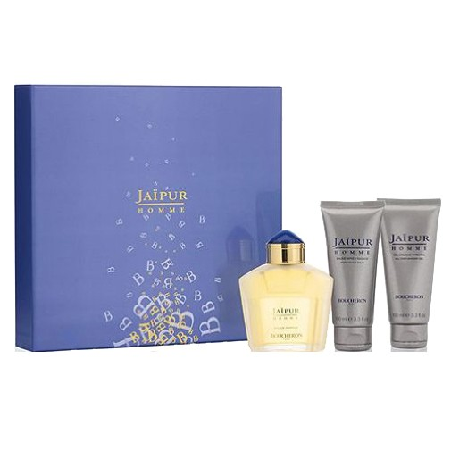 Jaipur Homme by Boucheron, 3 Piece Gift Set for Men 3.3oz EDP Spray Aftershave Shower Gel