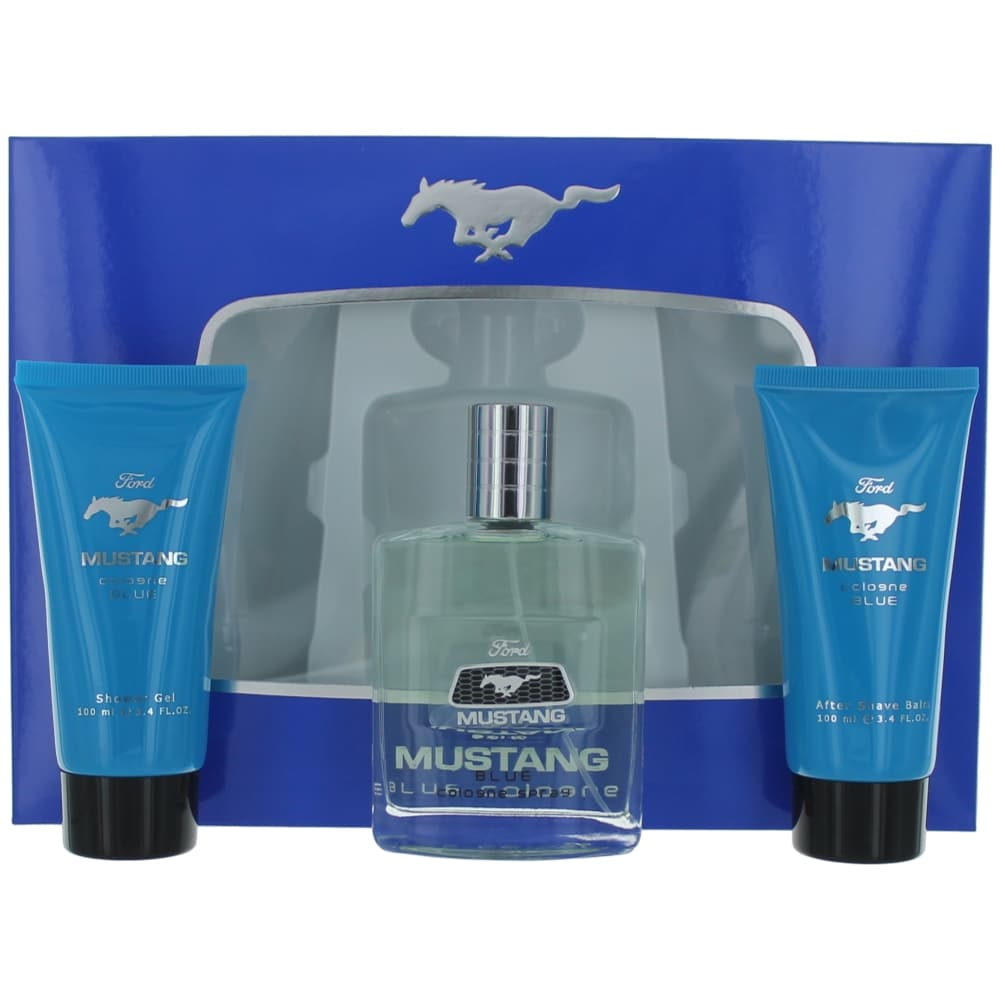 Mustang Blue by Mustang, 3 Piece Gift Set for Men