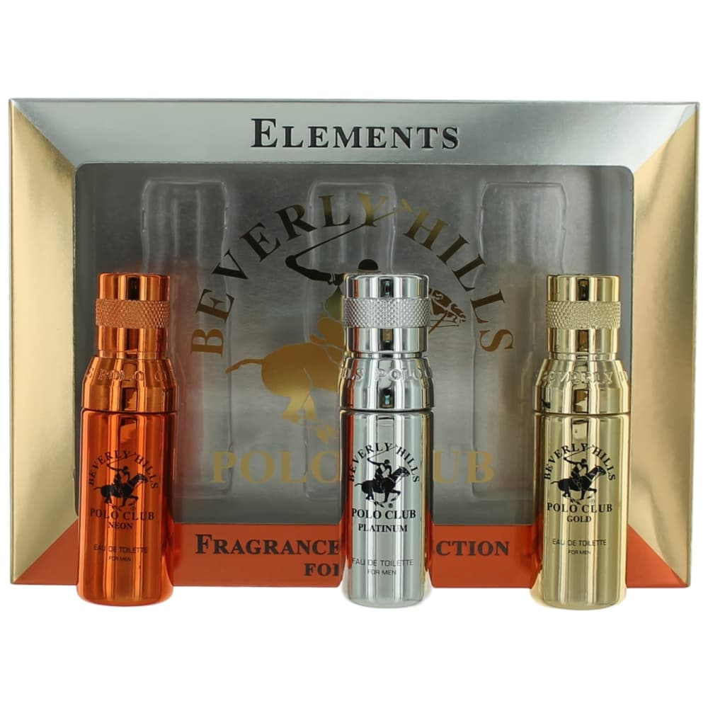 Beverly Hills Polo Club Elements Collection by Beverly Hills Polo Club, 3 Piece Gift Set for Men