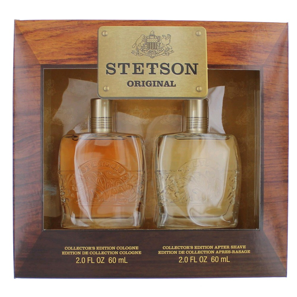 Stetson by Coty, 2 Piece Gift Set for Men 2oz Cologne Aftershave