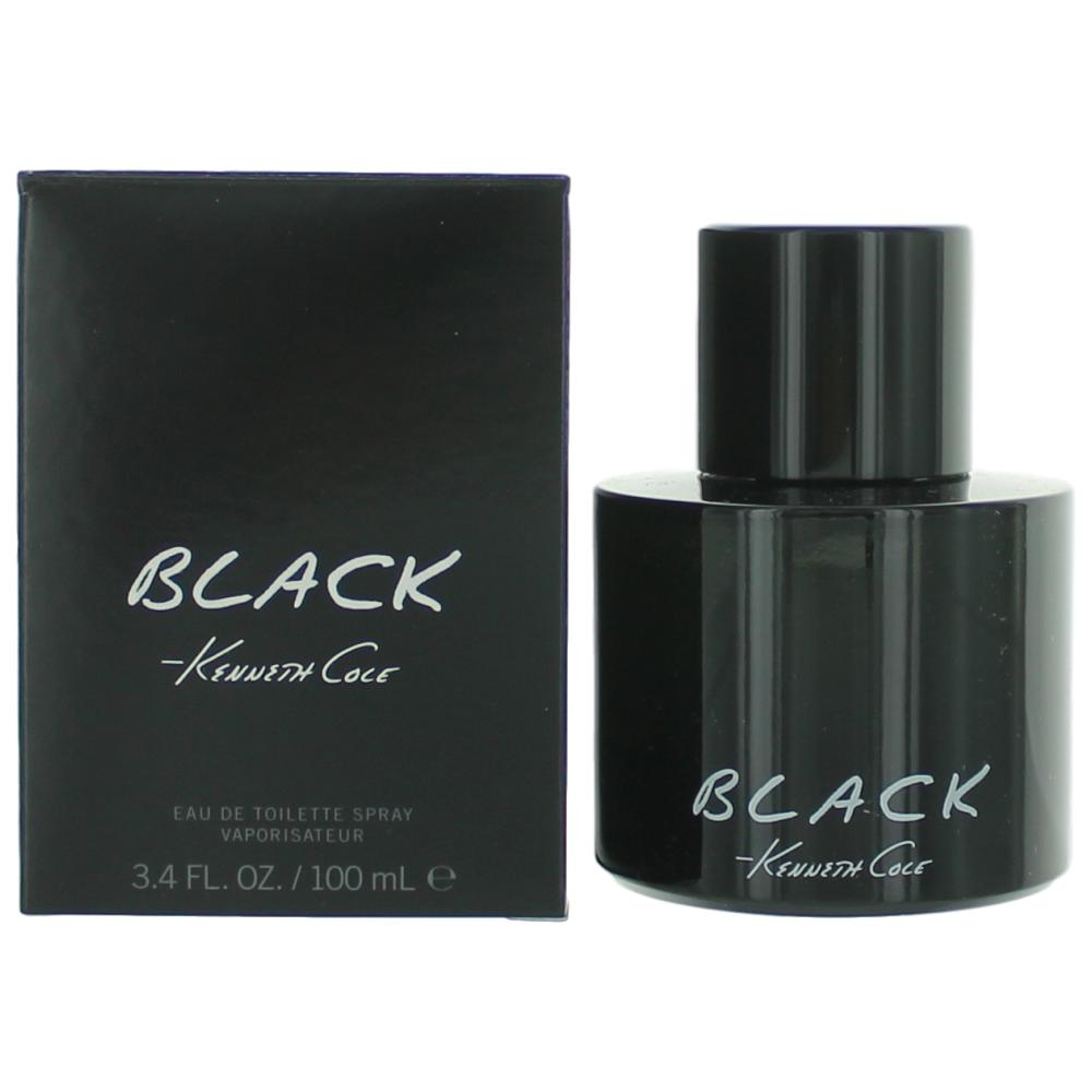 Kenneth Cole Black by Kenneth Cole, 3.4 oz Eau De Toilette Spray for Men