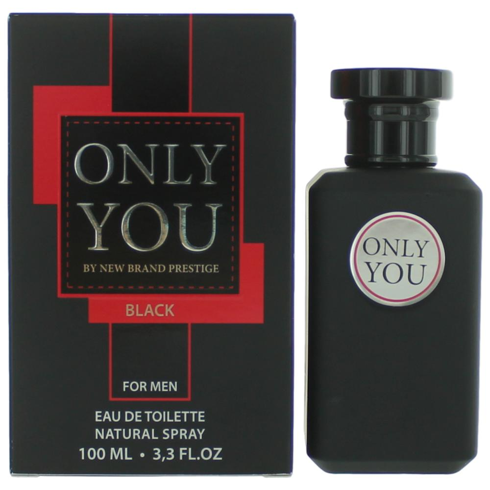 Only You Black By New Brand, 3.3 Oz Edt Spray For Men