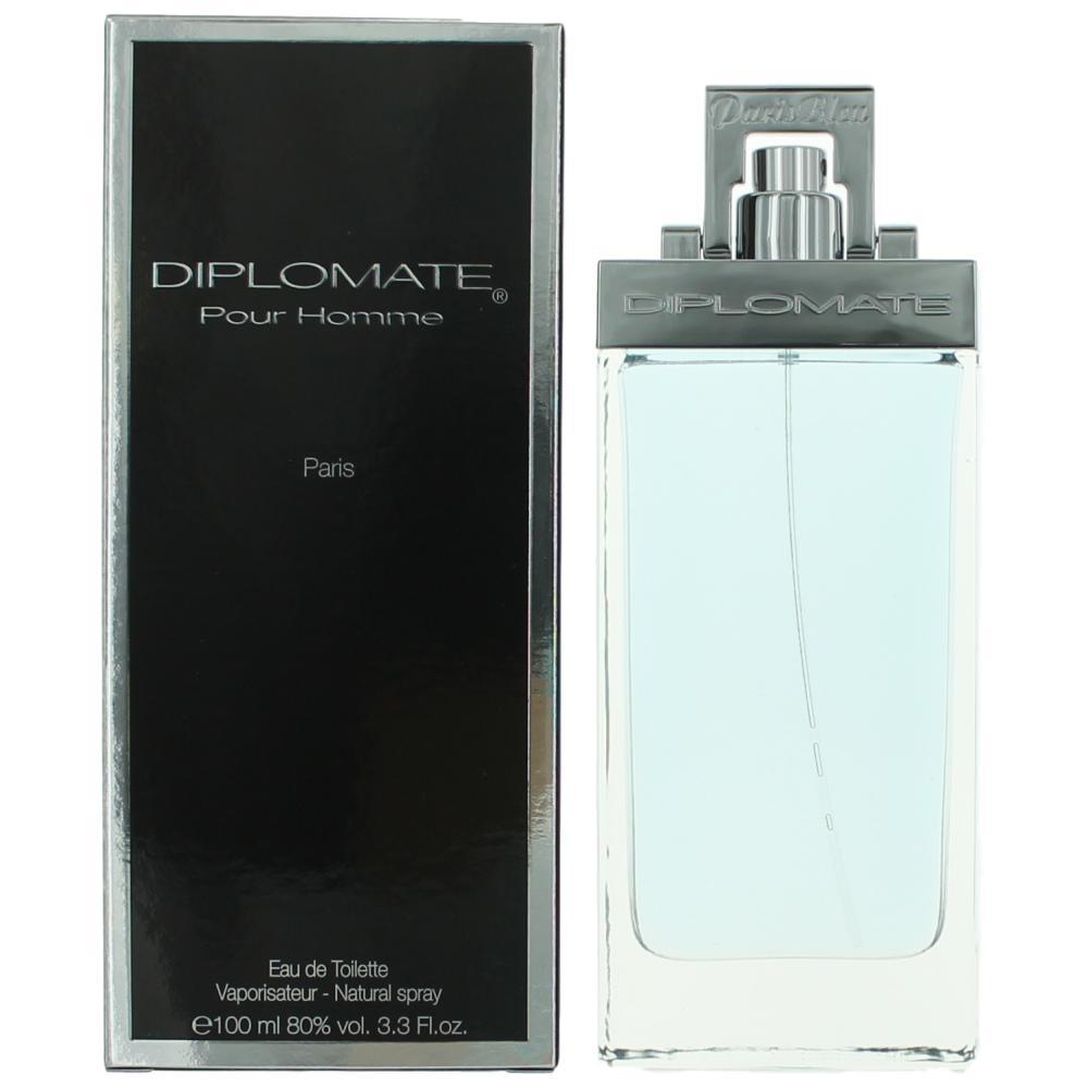 Diplomat Pour Homme by Paris Bleu Parfums, 3.3 oz Eau De Toilette Spray for Men