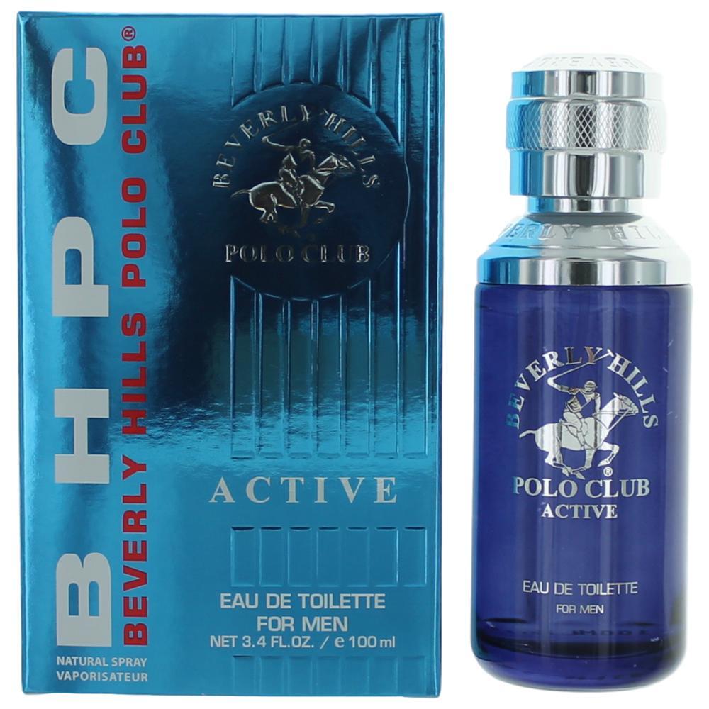 BHPC Active/Sport by Beverly Hills Polo Club, 3.4 oz Eau De Toilette Spray for Men
