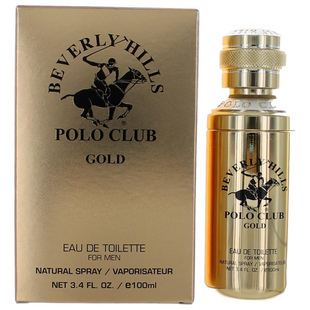 BHPC Gold by Beverly Hills Polo Club, 3.4 oz Eau de Toilette Spray for Men