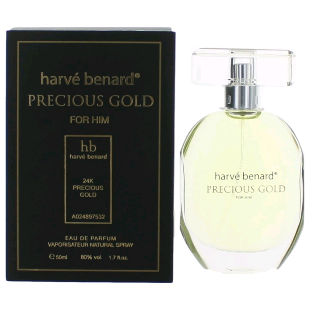 Precious Gold by Harve Bernard, 1.7 oz Eau De Parfum Spray for Men