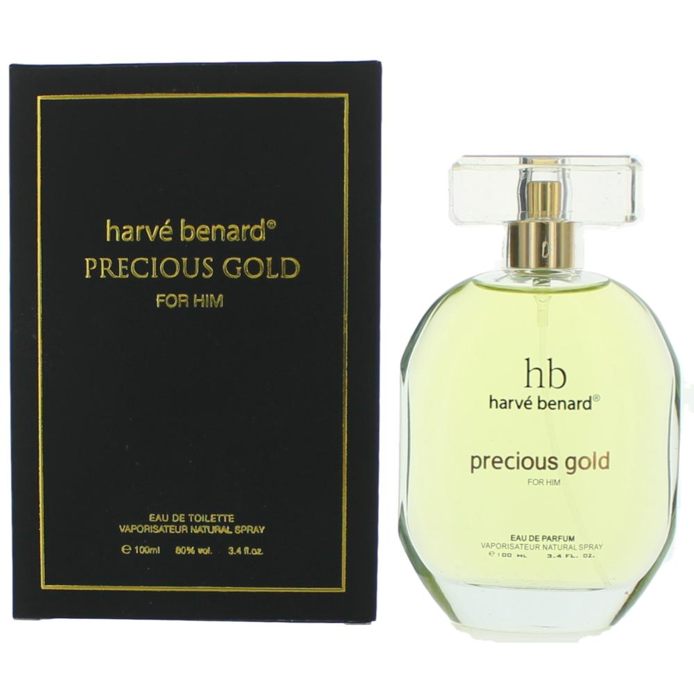 Precious Gold by Harve Bernard, 3.4 oz Eau De Parfum Spray for Men