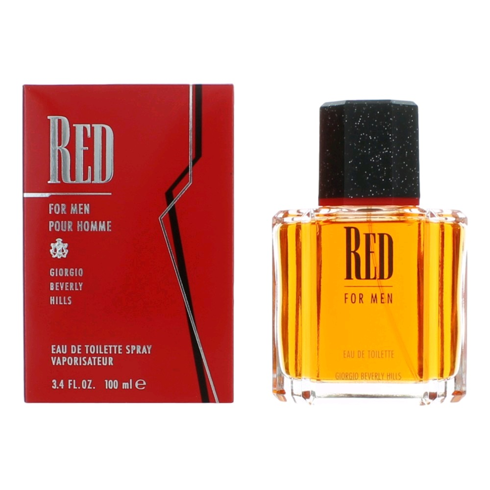 Red by Beverly Hills, 3.4 oz Eau De Toilette Spray for men.