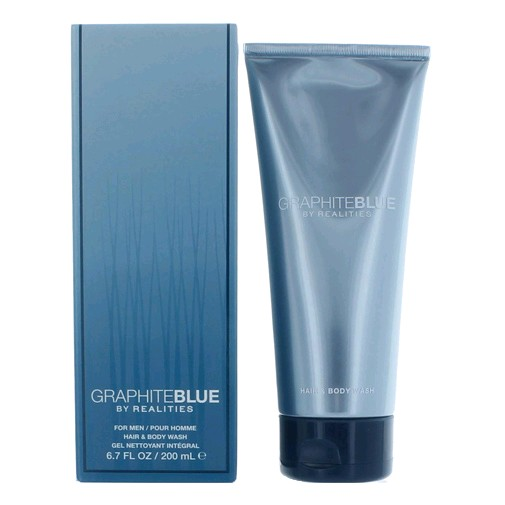 Graphite Blue by Realities, 6.7 oz Hair & Body Wash for men (GraphiteBlue)