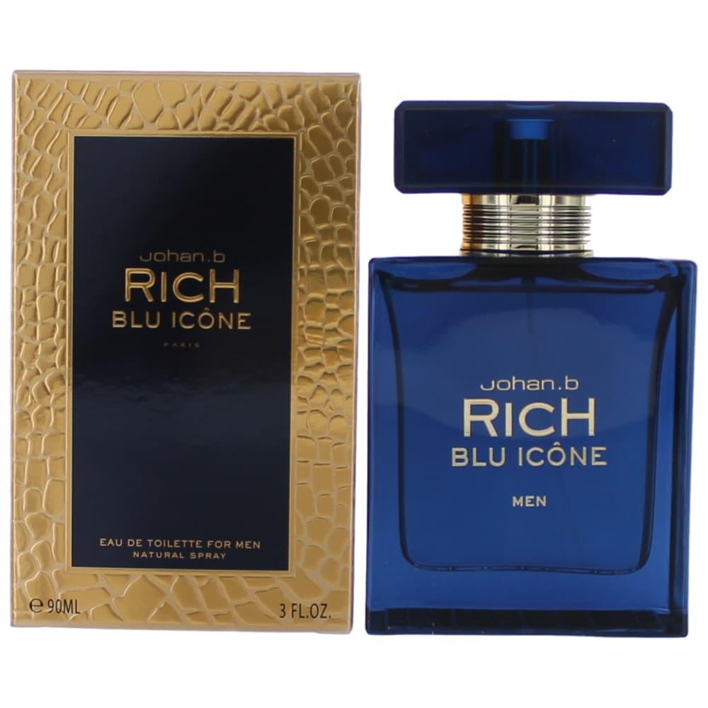 Rich Blu Icone by Johan.b, 3 oz Eau De Toilette Spray for Men