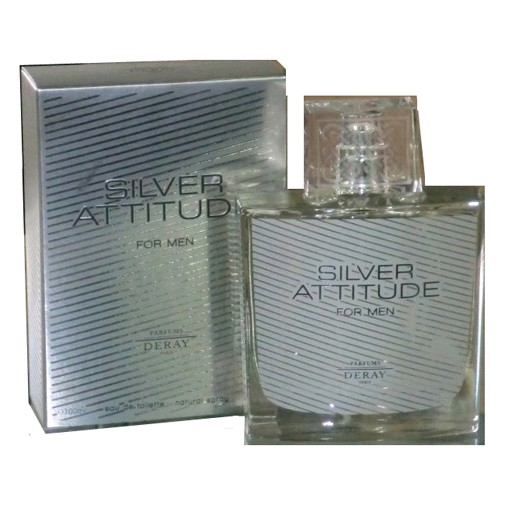 Silver Attitude by Deray, 3.4 oz Eau De Toilette Spray for Men
