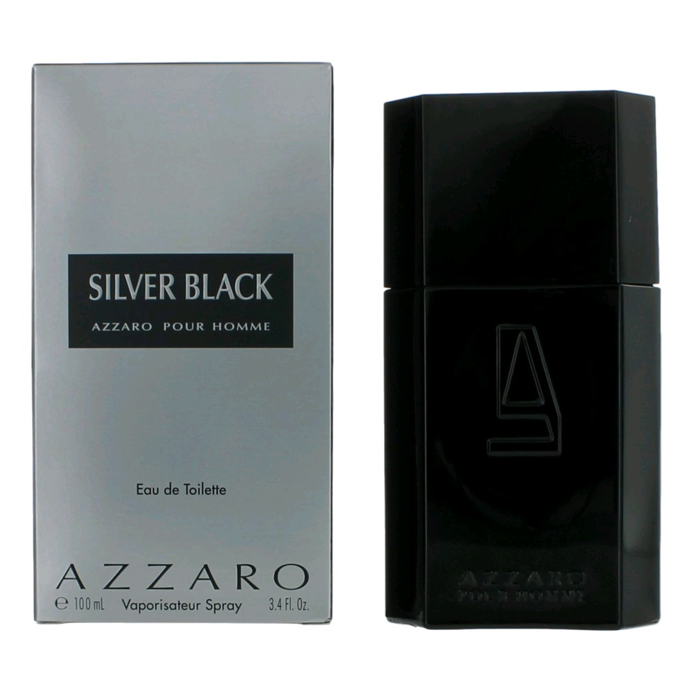 Silver Black by Azzaro, 3.4 oz EDT Spray for Men