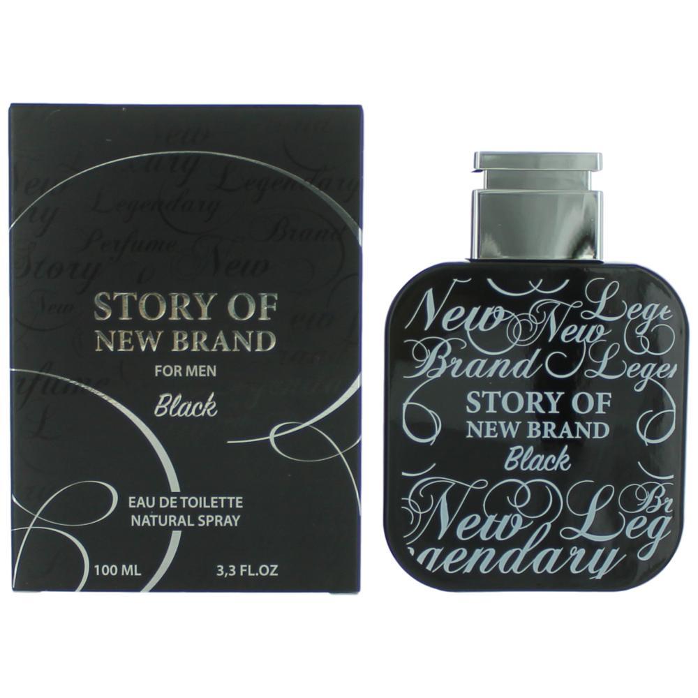 Story Of New Brand Black By New Brand, 3.3 Oz Edt Spray For Men