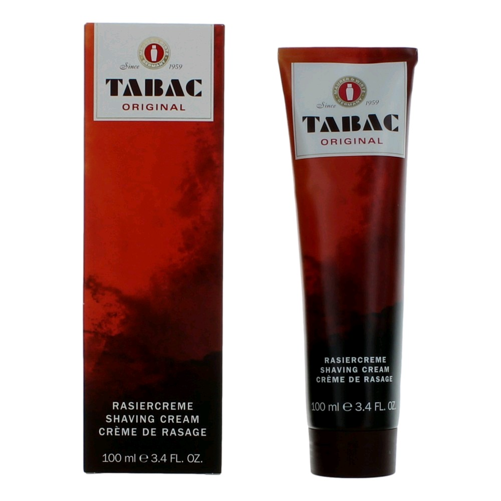 Tabac by Maurer & Wirtz, 3.6 oz Shaving Cream for men.
