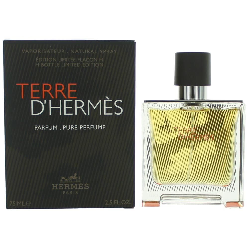 Terre D'Hermes by Hermes, 2.5 oz Pure Parfum Spray H Bottle Limited Edition for Men