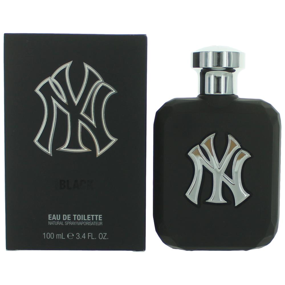 New York Yankees Pitch Black by NY Yankees, 3.4 oz Eau De Toilette Spray for Men