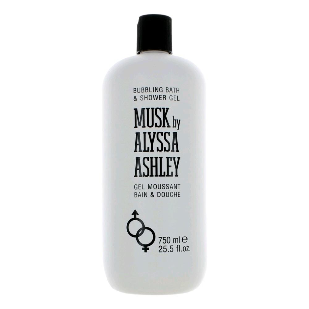 Musk by Alyssa Ashley, 25.5 oz Bubbling Bath & Shower Gel for women