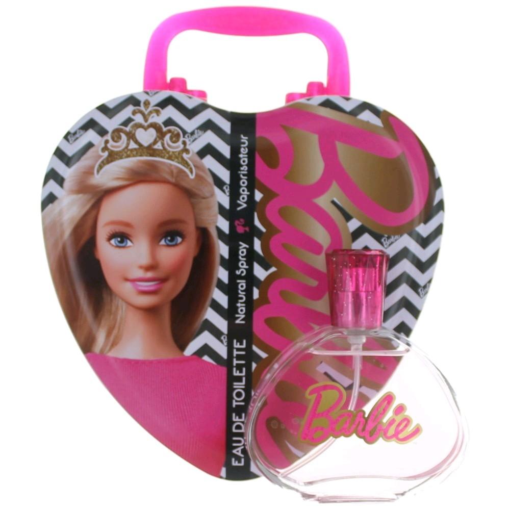 Barbie Metalic Heart by Barbie, 3.4 oz Eau De Toilette Spray for Girls